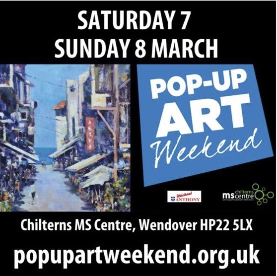 NOT LONG TO GO until the Pop Up Art exhibition is on at the Chilterns MS Centre;  Wonderful paintings, printwork, ceramics, crafts, glass art, jewellery and the delicious home made cakes!  I'd better get a move on and get my artwork ready to bring there!  #artexhibition #artpic.twitter.com/zKlyCKOGAH