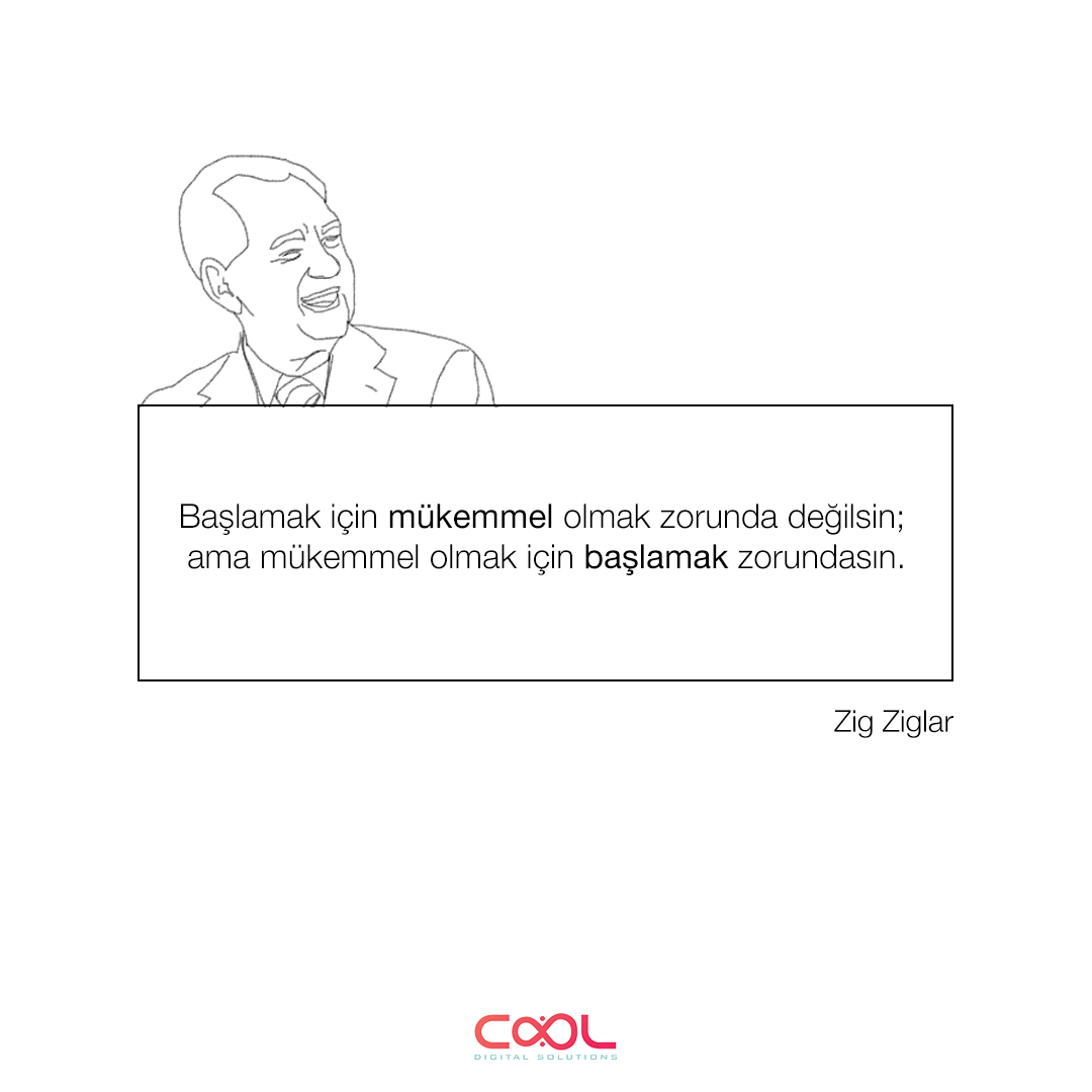 Haftanın #Cool İpucu, başlamak için mükemmel olmayı bekleyenlere.      English:  Cool #Tip of the week, comes for the ones who are waiting to be perfect to start.   #ArtificialInteligence #Digital #HappyFriday