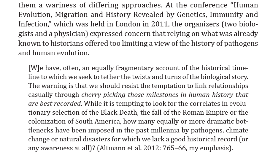 Eduardo, one further thought: one of the most haunting things I ever read about the potential of genetics to transform our historical thinking was this from a symposium held in 2011. That's what's driven my engagement: finding things we never even knew we should be looking for. pic.twitter.com/EIwY1mJl5h