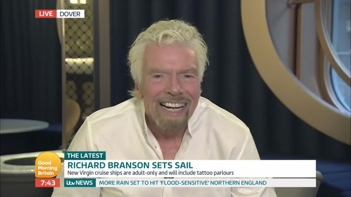 👏🏼 Unbelievable efforts with the team at @3MonkeysZeno working on the launch of @VirginVoyages. We've been cruising through interviews with international media, with @richardbranson speaking on @GMB  this morning ⬇️⬇️