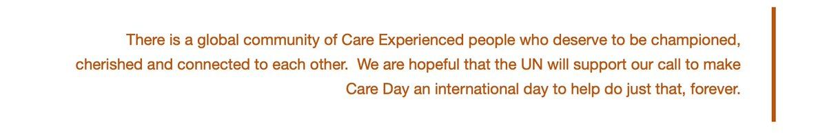 Its #CareDay and we kick it off with a joint call to the @UN to recognise today as an international day, every year. Find out why bit.ly/37PVued