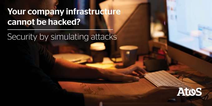 Are you 100% sure that your company infrastructure cannot be #hacked? We provide...