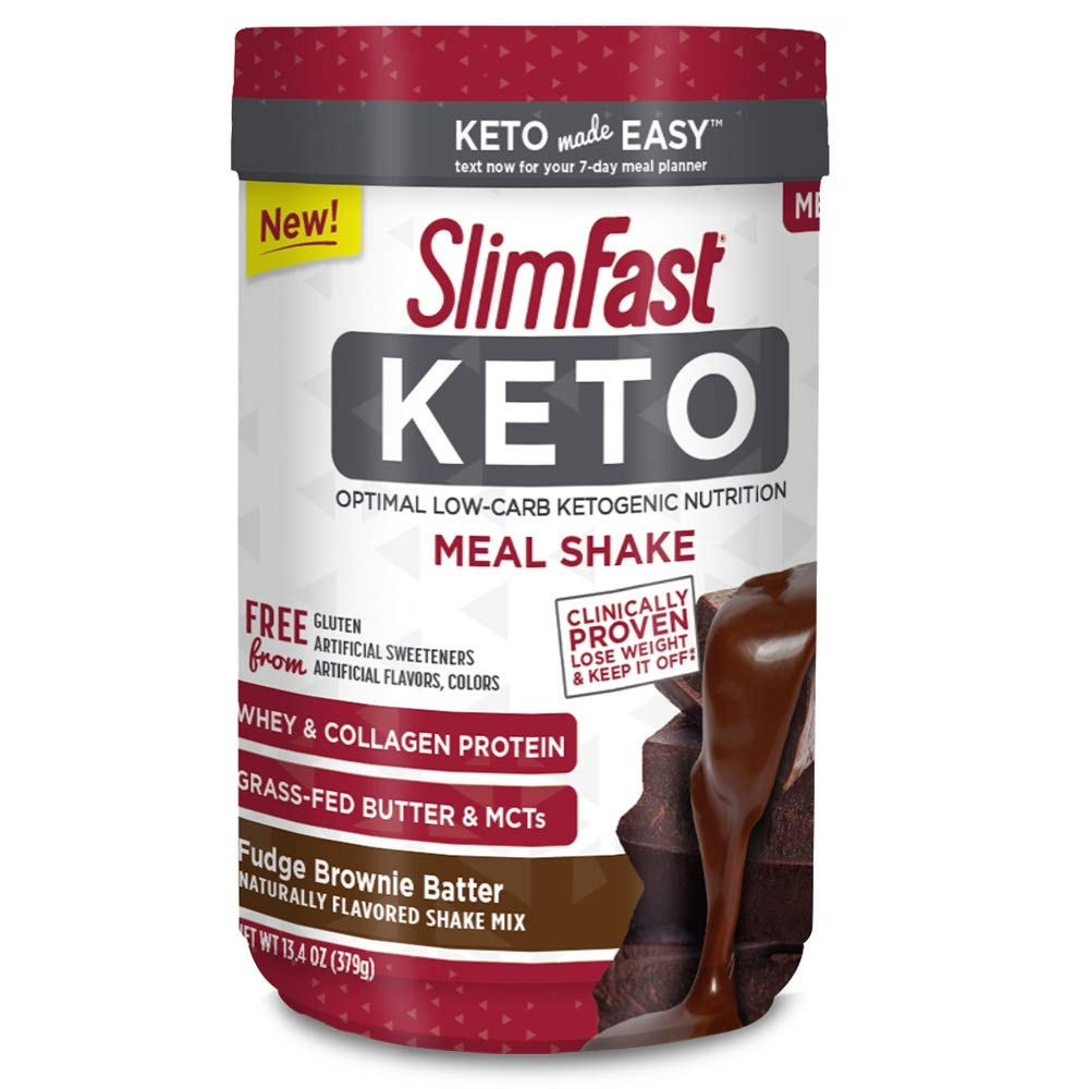 Major discount! Slimfast Keto Meal Replacement Powder Fudge Brownie Batter Canister, 13.4 Ounce, Pack of 1 4.1 stars Price:$14.2  #FridayThoughts #friends