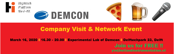 Young Holland Instrumentation (YIN) organizes a companyvisit @DEMCON in #delft on 16-03. Learn more about Demcon and the technologies and sectors they are active in. Of course, you will meet other young professionals and share experiences. http://bit.ly/2T1QFtd  #YIN #hightechpic.twitter.com/FshSU9YY6W