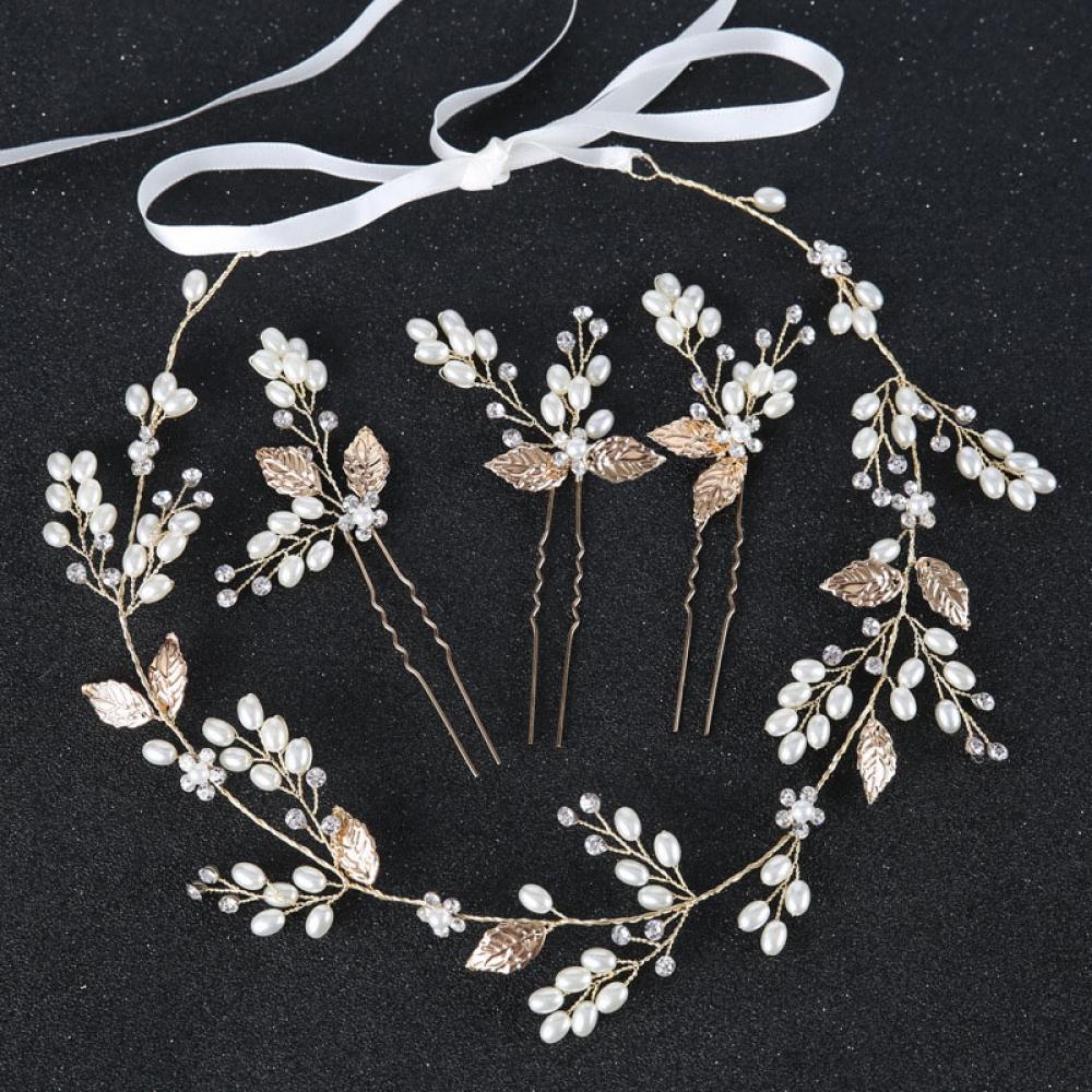 #girls #fashionblogger Metal Leaf Shaped Wedding Hair Accessories