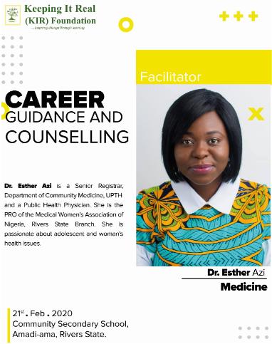Esther Azi - Medicine @Estarib24 #careerguidance #FridayThoughts #FridayVibes #careergoals