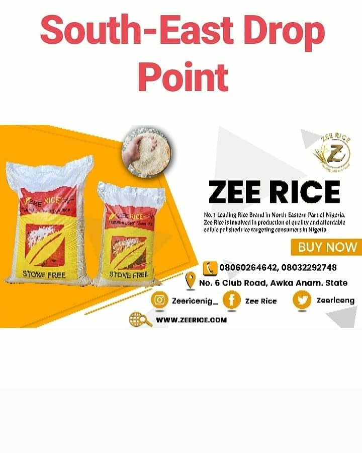 @zeericeng #droppoint :: Northeast and Southeastern locations. Drop by to take a look at our outstanding quality.   .  Zee Rice!!! Quality you can trust!  #northeast #southeast #nigeria #rice #quality #outstanding #Agribusinesspic.twitter.com/zgKWtjNTRy