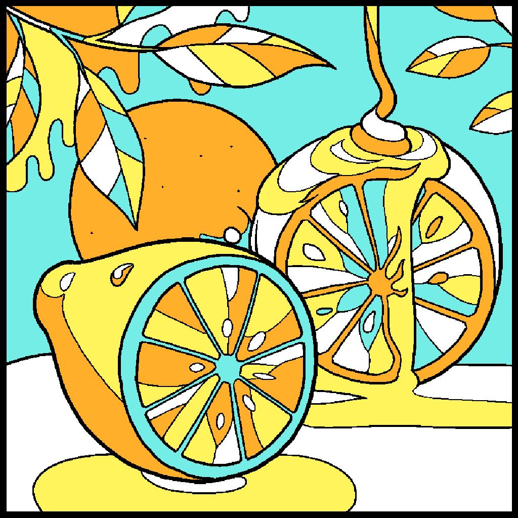 No.7「レモン」#塗り絵パズル #ハム塗り絵