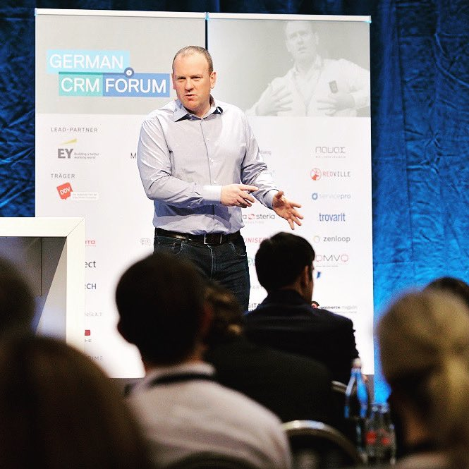 Throwback to Tuesday. Really enjoyed speaking at the 10th German CRM forum. Enjoy your Friday everyone. pic.twitter.com/MpfBVcuIrY