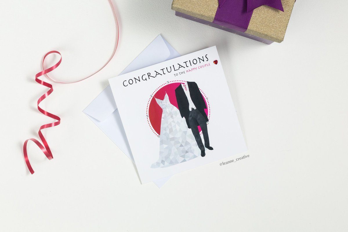 "Are you going to a wedding this year? My ""happy couple"" greeting card is available to celebrate the love 💗💗 Visit my online shop to browse & purchase:  💗 #wedding #congratulations #marriage #whitewedding #weddingguest #greetingcard #leannecreative #etsy"