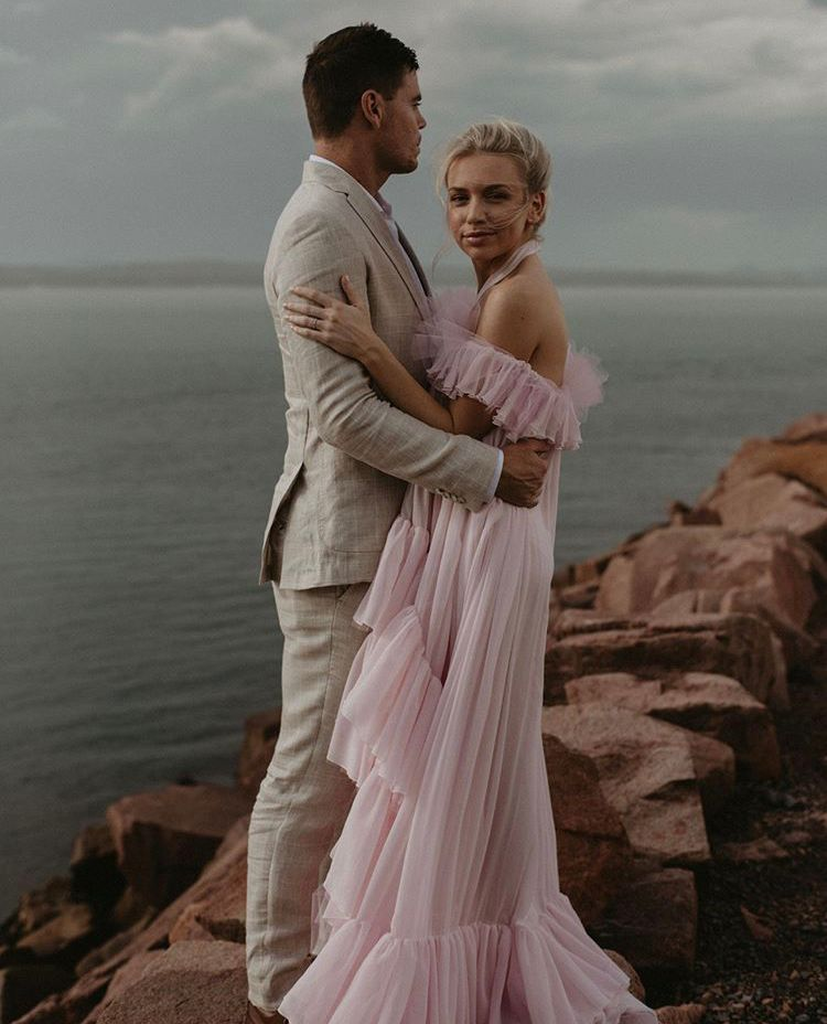 This Will Make You Want to Have a Pink Wedding Dress. They're Stunning!  #wedding #gettingmarried #springwedding