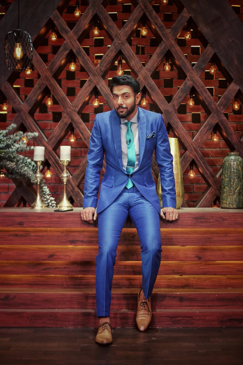 Hitting the semi-finales with this hit outfit! . . . #MasterchefIndia #week12 #outfit #oodt #suited #blue  @StarPlus<br>http://pic.twitter.com/WaQReCt7GH