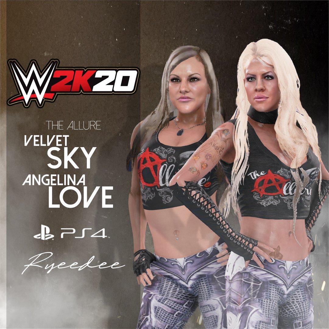 Preview@WWEgames #WWE2K20 #TheAllure💋#TheBeautifulPeople @VelVelHoller @ActualALove #RYEEDEE