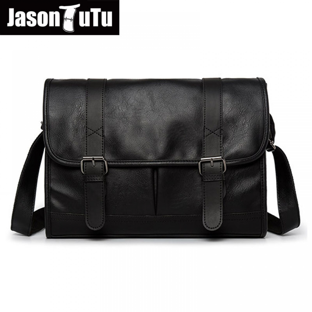 JASON TUTU Brand design man bag shoulder bag,Black PU leather men messenger bags, crossbody bags for men purse male handbag B517  #fashion|#home|#tech|#lifestyle