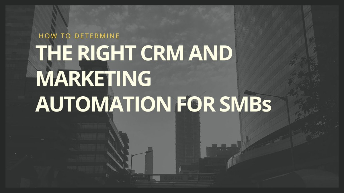 Determining the best CRM and automation for your business https://buff.ly/2J6YhGD  #CRM #salesautomation #marketingautomation #BusinessStrategypic.twitter.com/fGwBOeCqvJ
