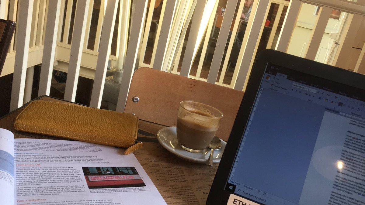 Feeling rather grown up. No children, a coffee shop and my laptop...