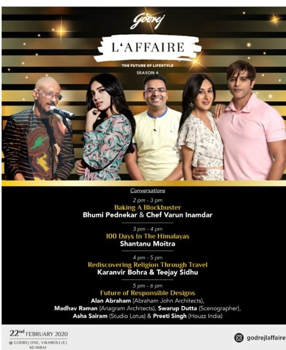 All set for the 4th edition of @godrejlaffaire - An experiential marketing space, to secure a special place in our hearts! See you there...  #Laffaire2020 #Wizspk #PRPartners #GodrejLaffaire #LaffaireToRemember #backtoroots #food #travel #music #inspiration #fashion #lifestyle