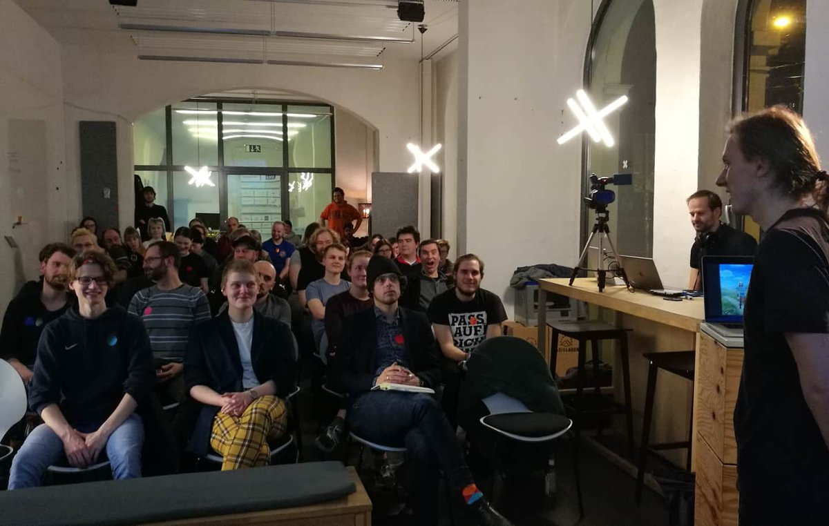 We've been at the GameDev #Leipzig #Meetup yesterday, showcasing our #ggj2020 game SPHERONEERS.  Thank you everyone for playing and giving us feedback!     @ratrogue   #gamedev #indiedev #games #Halle #coop #couchcoop #controller #cooperation #puzzle<br>http://pic.twitter.com/NsbSWdOcEg