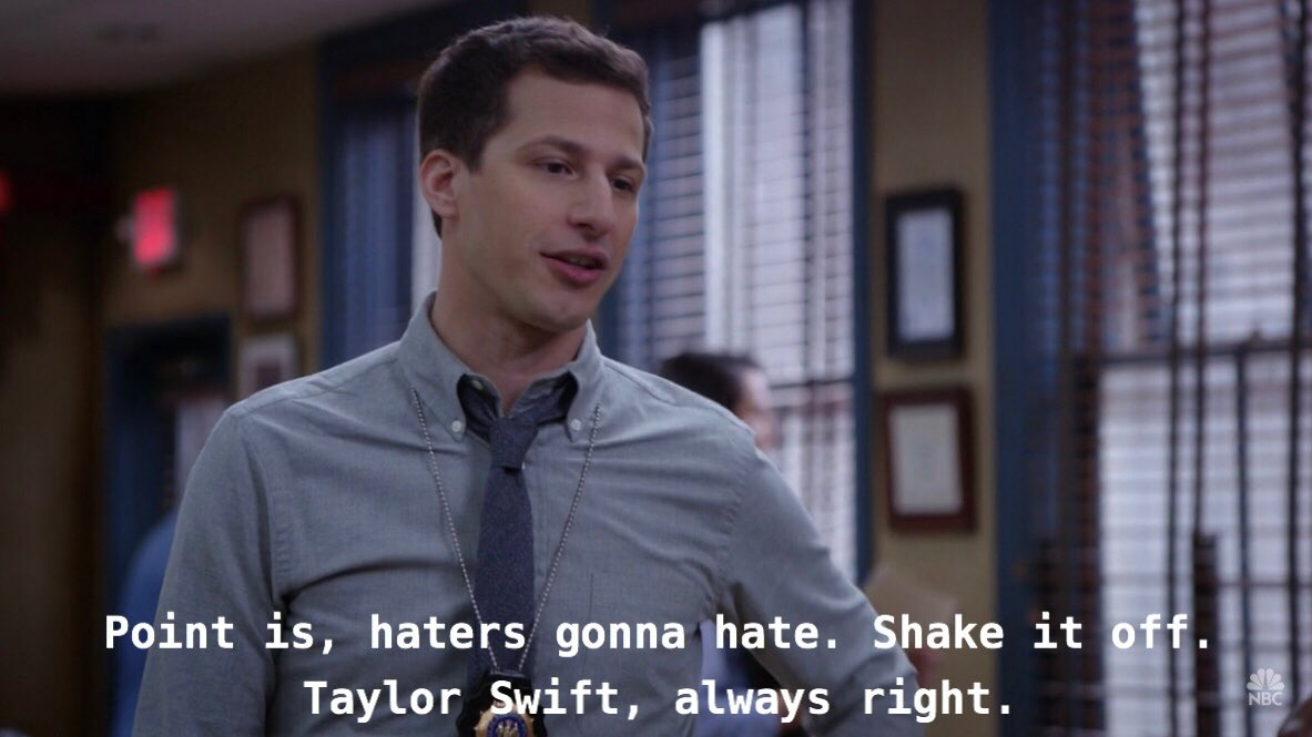 Dylan On Twitter Point Is Haters Gonna Hate Shake It Off Taylor Swift Always Right