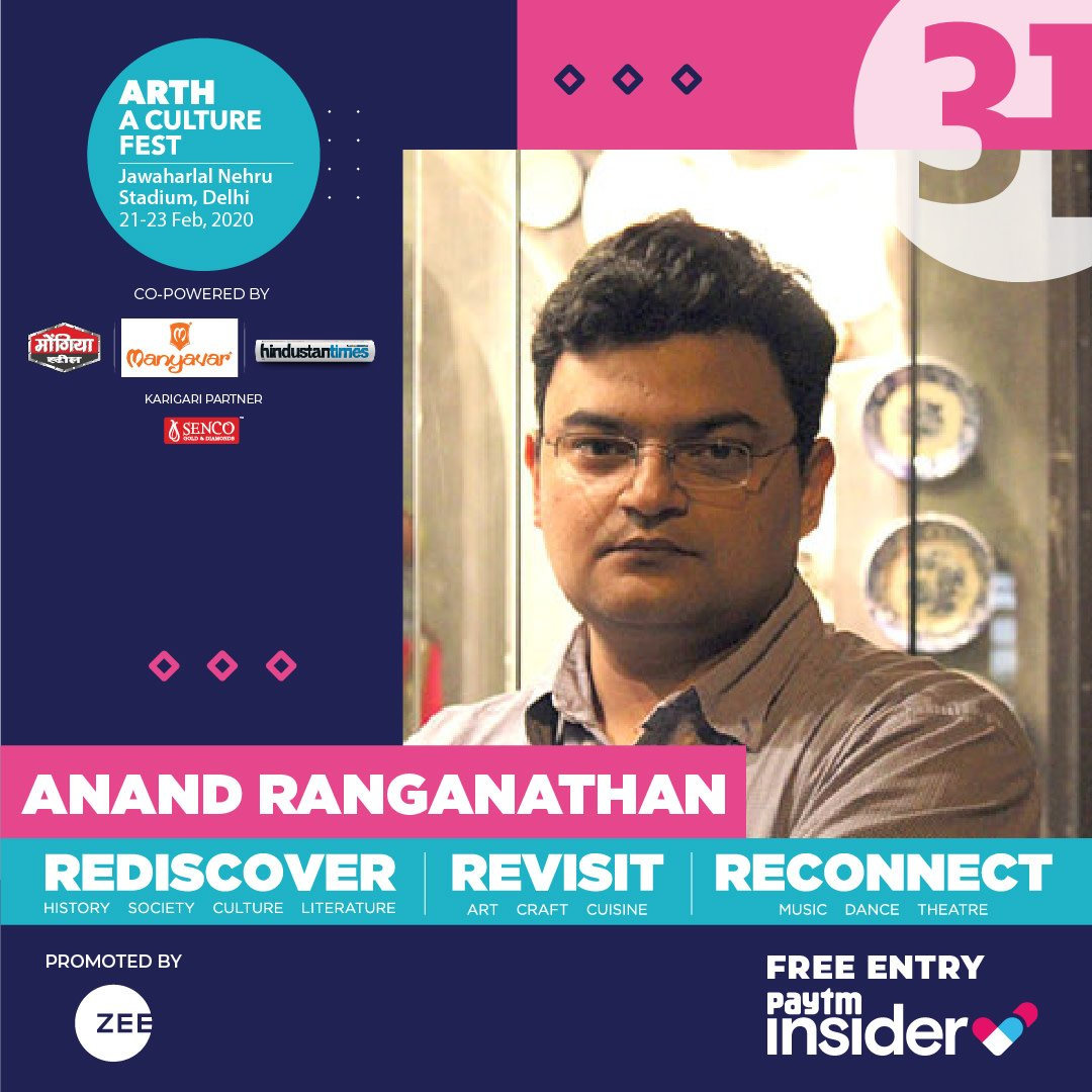 Looking forward to attending the wonderful @arth_live festival, as part of the audience as well as a panellist. Do come. Entry free. 21-23 February, JLN Stadium, Delhi.