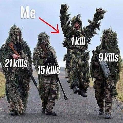 This ganna be me tonight playing #Pavlov  Who doesn't get chuffed getting 1 kill?!  #teamgoals #oculusquest #oculuslink #vrgaming #steamvr