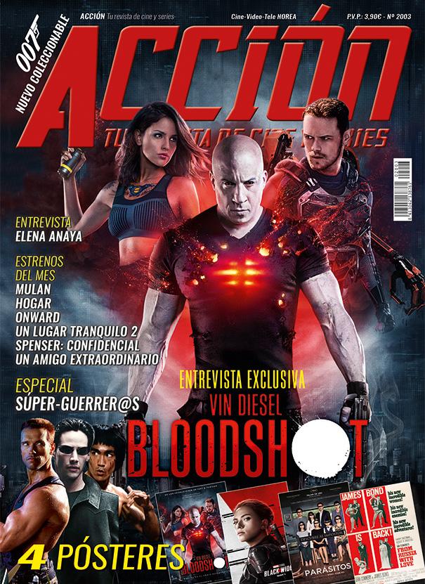 Pues aquí tenéis la portada de Marzo. Con Bloodshot, entrevistas exclusivas con Vin Diesel y Elena Anaya y un especial de super-guerrer@s además de las secciones habituales El lunes a la venta en zona centro de España y a lo largo de la semana en el resto pic.twitter.com/DAQCxNt8BD