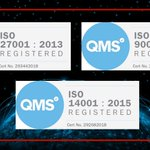Image for the Tweet beginning: We are ISO 9001, ISO