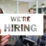 Image for the Tweet beginning: We're hiring! Join our growing