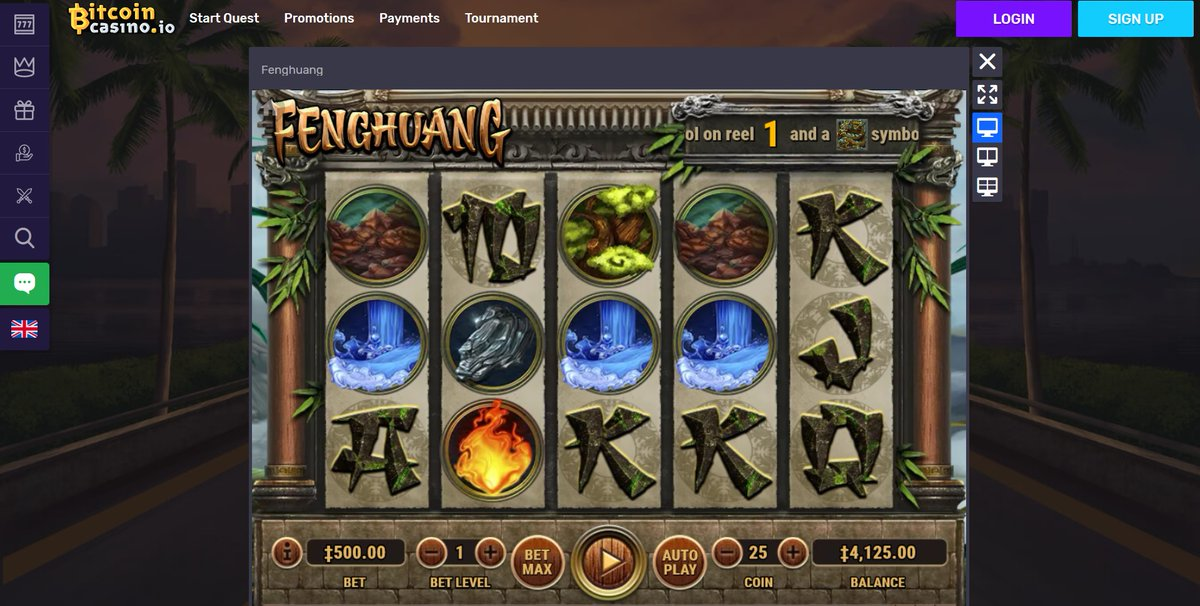 Fenghuang playing with Bitcoins. https://www.bitcoincasino.io/game/fenghuang #game #jackpot #slot #entertainment #Habaneropic.twitter.com/54R0XJNI1O
