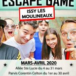 Image for the Tweet beginning: #QueFaireAIssy 🔛 ESCAPE GAME  Le «