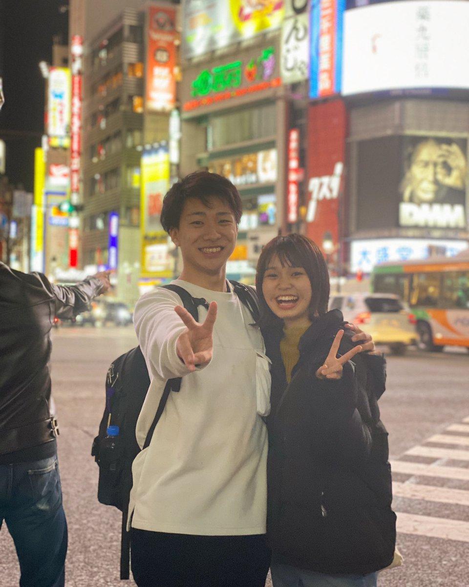 渋谷の夜景でなつきと写真撮った☺️✌️