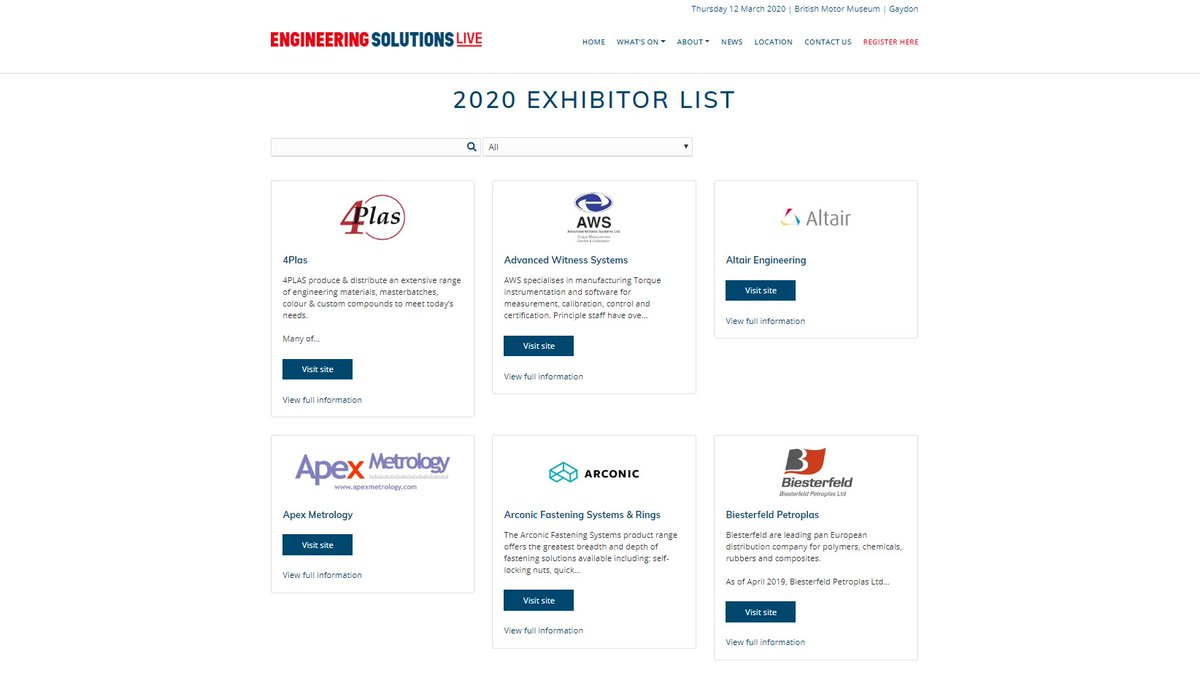 Have you had a scroll through the #EngSolLive20 exhibitor list lately? With new exhibitors coming in daily we can guarantee you'll find a new supplier or solution provider of interest to you! 🛠🧰  #engineering #manufacturing #fastening #pcb #design #measurement