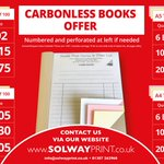 Image for the Tweet beginning: Carbonless Books Offer: NCR A5/A4