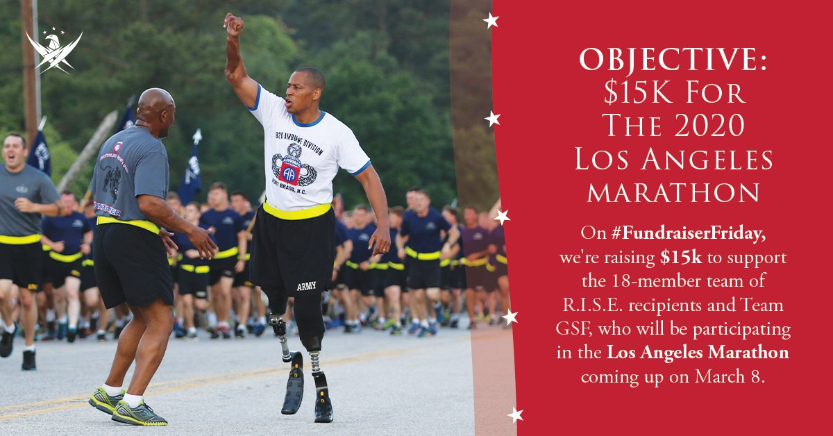 The Los Angeles Marathon kicks off on March 8, featuring 18 representatives of the Gary Sinise Foundation who will run or handcycle their way along the route from Dodger Stadium to the Santa Monica Pier. Help us raise $15k on #FundraiserFriday.