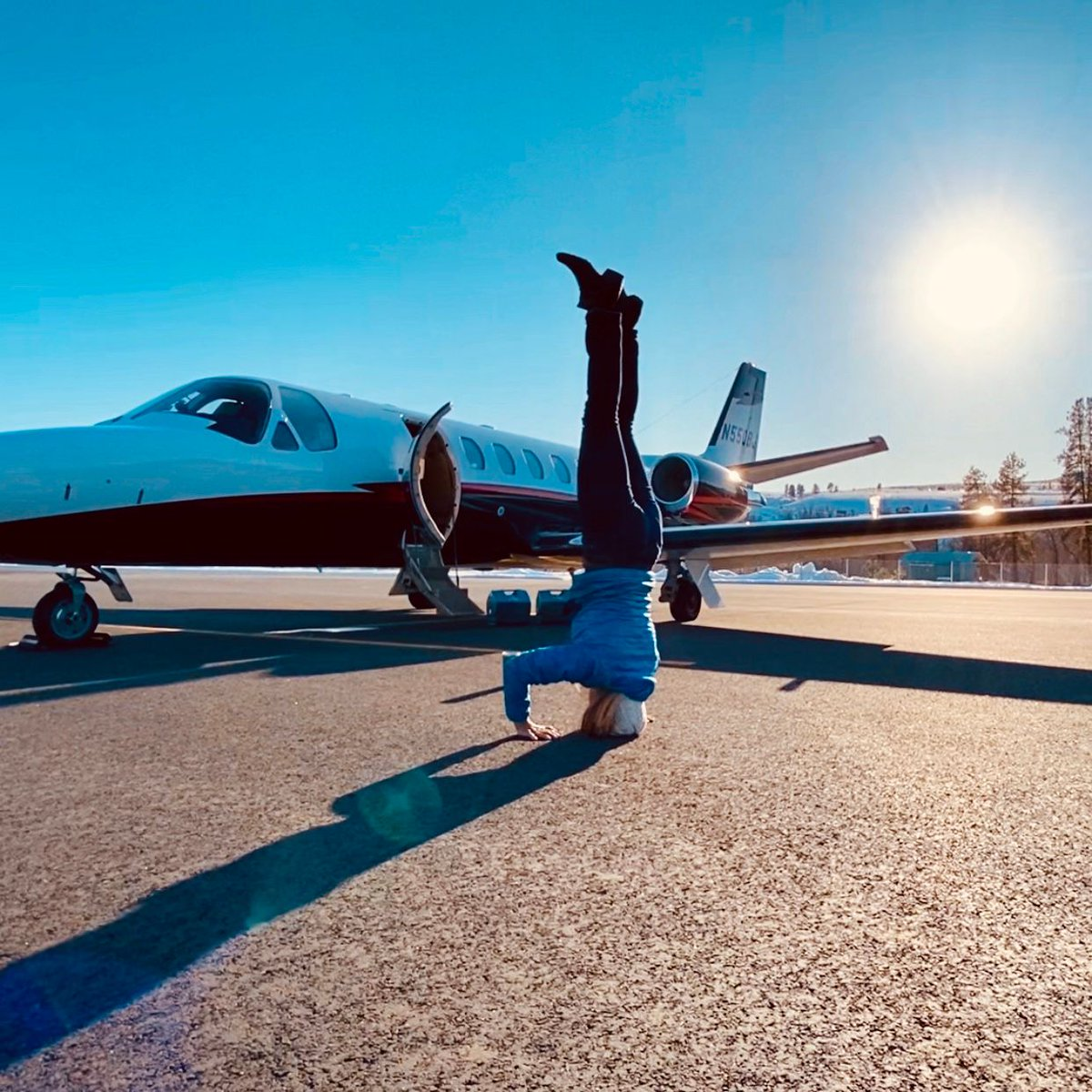 Yogo by the private jet? Acceptable. Fly Erin Air . . .  #flyerinair #businessjet #corporatejets  #instagramaviation #entrepreneur #luxurytravel #airplane #jet #privatejet  #aviation #plane #flying #jet #jetsetter #cessnacitation #airplane #aviation #luxurytravel #travel