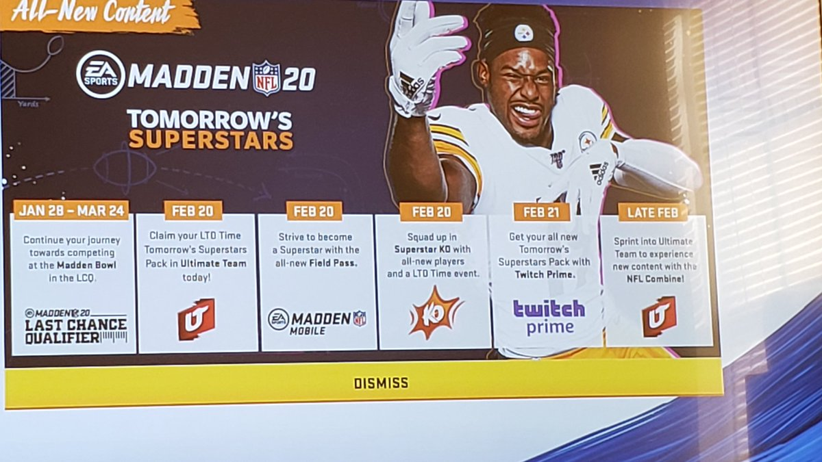 Combine coming next week! #Madden20 @EAMaddenNFL @EASPORTS_MUTpic.twitter.com/icNp1lyaY4