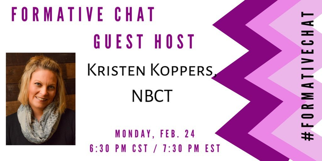 See you tomorrow night for #formativechat with guest moderator @Mrs_Koppers invite some friends to join us! #education #k12 #DIteaching #edumatch @EdumatchBooks #ntchat #educoach #learnlap