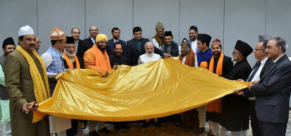 PM Modi hands over Chadar to be offered at Ajmer Sharif