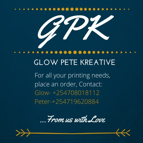 For all Photo/Art mount and T-Shirt printing, hit us up on the contact indicated.   Follow us on IG @glowpetekreative to see some of the work done pic.twitter.com/GUVT2Fhbvv