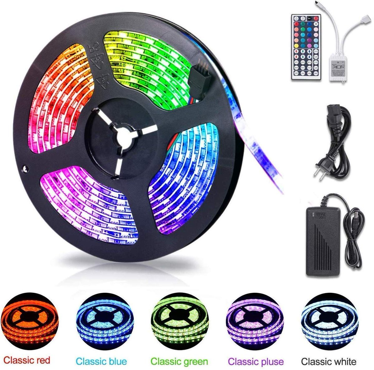 16.4ft Waterproof Color Changing RGB LED Light Strip   $12.59 with FREE PRIME SHIPPING  Clip the 10% off coupon on page + use code 30T1ZHX8 at checkout https://amzn.to/2SNJsOz   #steals #stealsanddealspic.twitter.com/odTyzqei5n