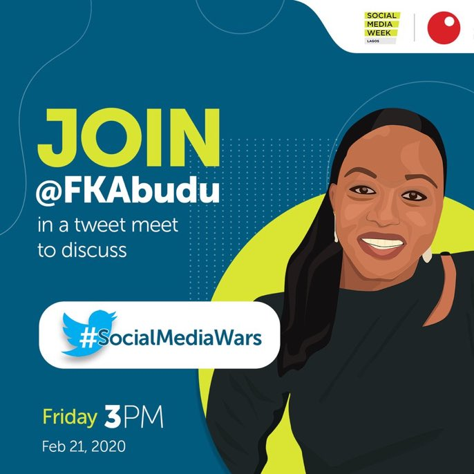 Ladies and Gentlemen on the TL, come and have the knowledge of what we call social media wars, brands, passwords and other spicy things ahead of the @Sterling_Bankng panel at Social Media Week. Dont come alone, come with friends #SMWSocialMediaWars