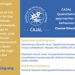 Image for the Tweet beginning: Meet the #CAJAL course directors: