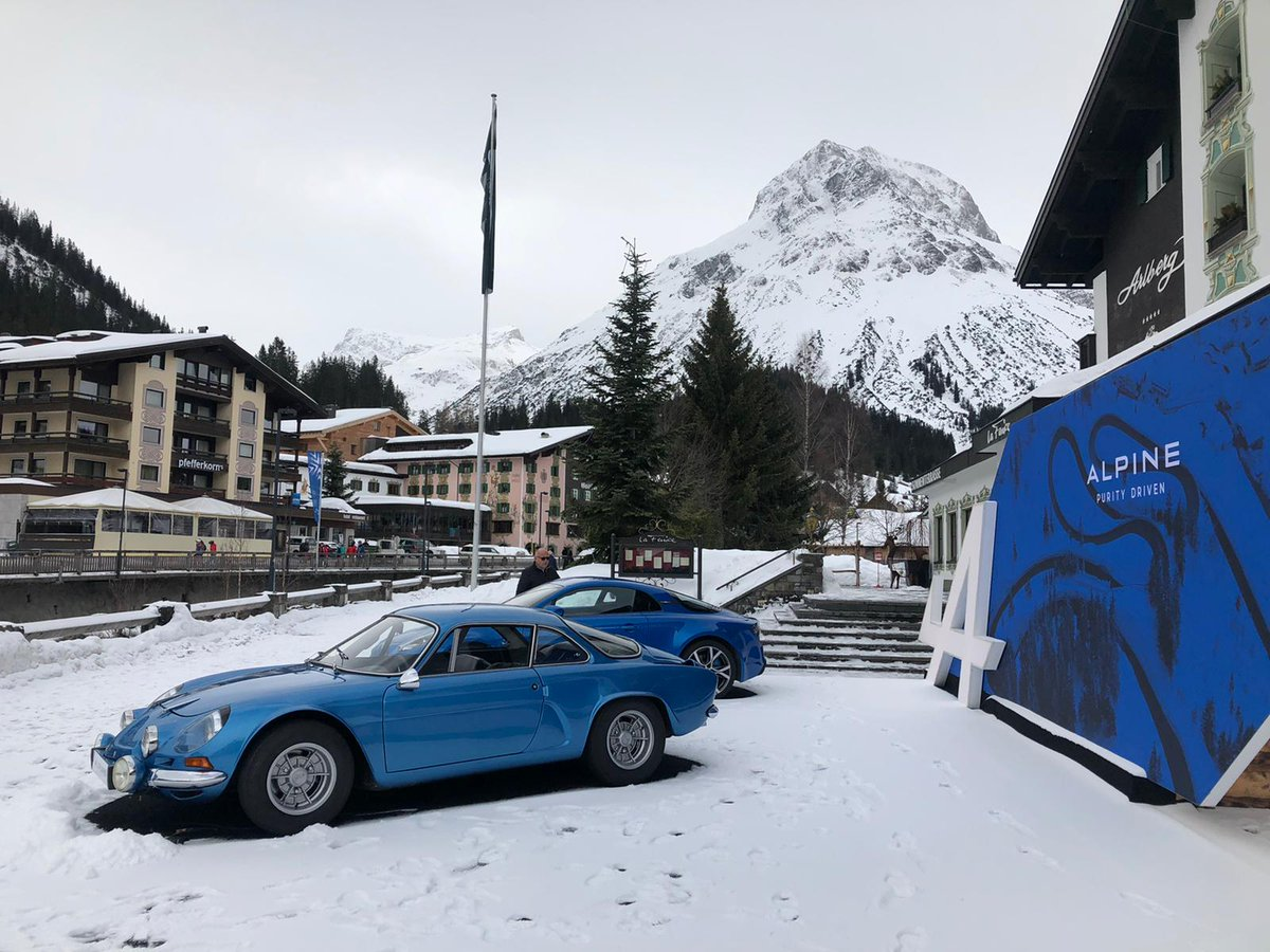 Come and try the #AlpineA110 ! #AlpineCars is in Lech (Austria) from February 22nd to March 10th. Come and try the Alpine A110 on the snowy roads of the famous Austrian ski-resort. Meet our Alpine instructors in front of the Arlberg Hotel. pic.twitter.com/axk7Gy4lPH