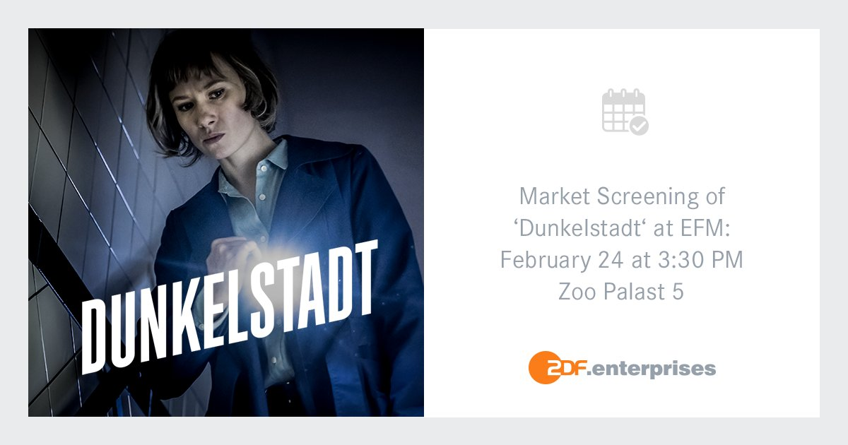 """We are excited to announce the EFM market screening of the new film noir series DUNKELSTADT. The series follows the story of private dectective Doro, who uses her ability for """"social engineering"""" to solve mysterious cases.  https:// presseportal.zdf.de/pressemitteilu ng/mitteilung/dunkelstadt-dreharbeiten-fuer-neue-zdfneo-crime-serie-laufen/  …  #ZeitsprungPicturesGmbH @ZDFneo<br>http://pic.twitter.com/x8RNizl0Og"""