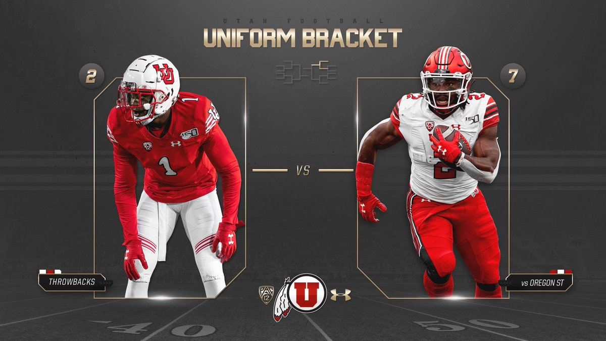 Here is the first matchup of the day. #UteArmourMadness #UtahFootballAwards