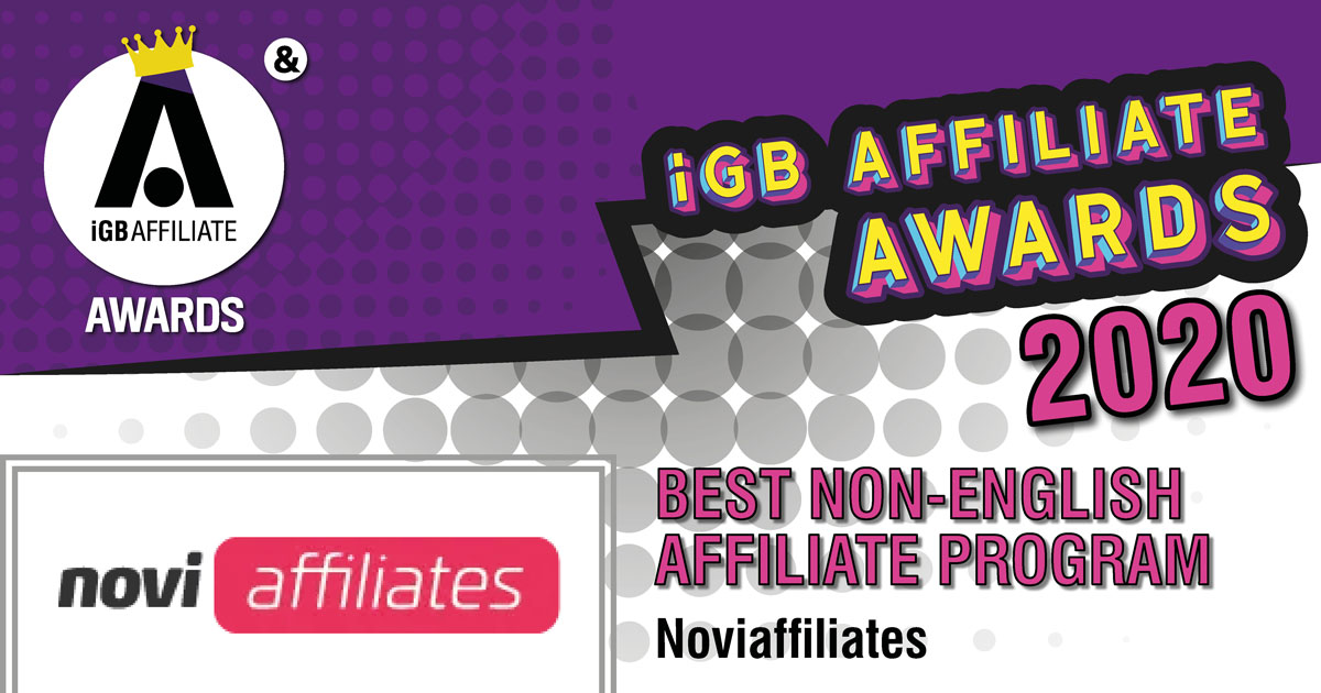 Congratulations to @novibet's Affiliate Program Noviaffiliates for winning the Best Non-English Affiliate Program!  See all winners: https://www.igbaffiliate.com/awards/igb-affiliate-awards#winners…
