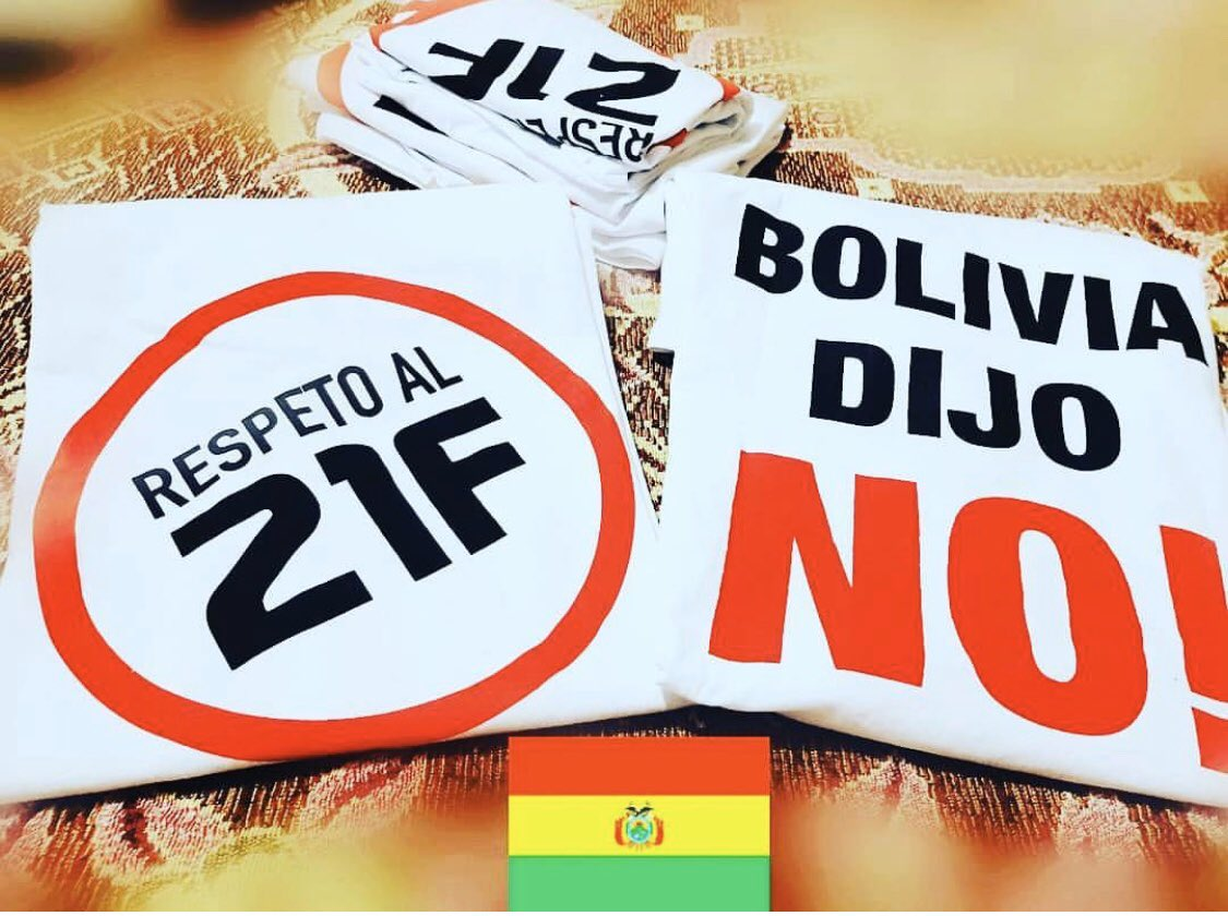 The referendum marked the rise of anti Morales sentiment in #Bolivia The vote was held on 21 Feb 2016 and proposed amendment was rejected by 51%to 49% . #BoliviaDijoNo #F21  #PititaTwitteraInternacional #21FPrimerDiaDeLibertad #21FDiaDeLaPrimeraVictoria #21FLaCaidaDelTirano<br>http://pic.twitter.com/T8FfEMiZoI