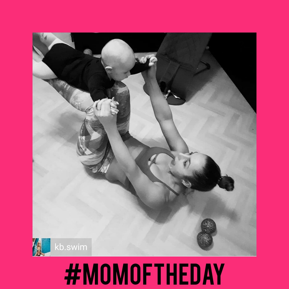 #momoftheday Keep being confident, strong and beautiful! Show this mom some love  Tell us about your passion for swimming. #mtsm #confident #strong #beautiful #mom #love #thanks #feature  Reposted from @kb.swim Family Workout and Blackroll Session #familytime #stretchingpic.twitter.com/JVYUWan06w
