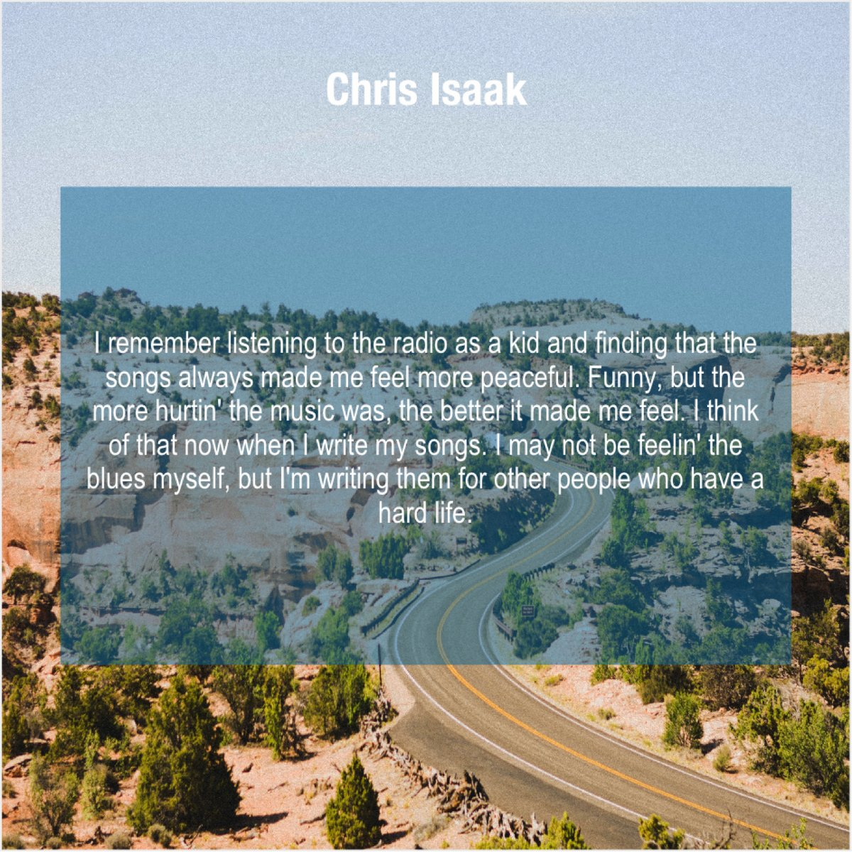 Chris Isaak – I remember listening to the… http://dlvr.it/RQV1v7 More Free Quotes #quoteoftheday #inspiration #motivationpic.twitter.com/tmWC2fAGwy