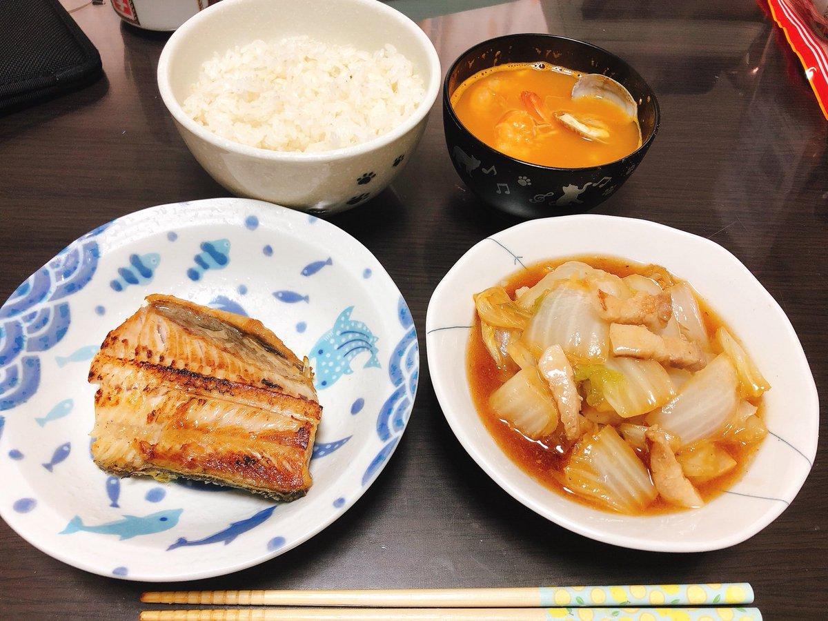 この白菜と豚肉のうま煮、なかなか美味しかった´ω`)ノ